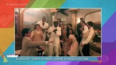 Elenco de 'Tempo de Amar' aceita desafio e dança funk - Vitória Strada aproveita e desafia a galera de 'Malhação' para a próxima dancinha