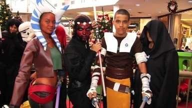 Publico se fantasia como personagens do filme star wars - Saiba mais em g1.com.br/ce