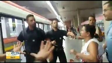 Caso de mulher agredida em Metrô será investigado pela Polícia Civil - Segurança agrediu vendedora ambulante.