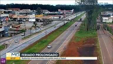 Rodovias que cortam MG estão movimentadas na saída para o feriado prolongado de Natal - PRF reforçou a fiscalização nas estradas que cortam a Grande BH.
