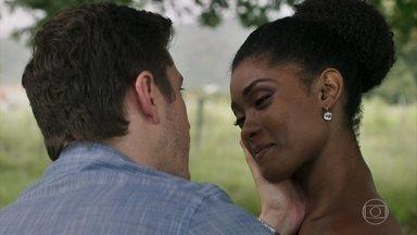 Raquel diz que não vai aceitar um amor com base em mentiras - Bruno garante que vai resolver sua situação com Tônia