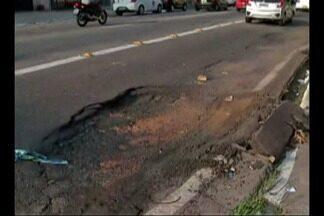 Buracos e falhas na sinalização comprometem faixa exclusiva de ônibus em Belém - Sistema BRS foi instalado no mês de novembro em algumas vias da capital.