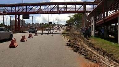 Trecho da Avenida Tancredo Neves vai passar por obras - Local fica próximo ao Detran na Zona Sul de Aracaju (SE).