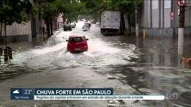 Forte chuva deixa regiões da capital em estado de atenção - Temporal provocou diversos alagamentos e diversas áreas da capital ficaram em estado de atenção.