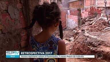 SP2 volta a Paraisópolis nove meses após incêndio - Há nove meses, dezenas de casas na favela de Paraisópolis, na Zona Sul, foram incendiadas. Centenas de famílias foram prejudicadas e sofrem as consequências até hoje.