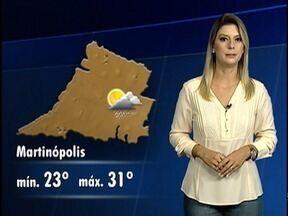 Débora Andreato traz a previsão do tempo para esta quarta-feira - Confira como ficam as temperaturas na região de Presidente Prudente.