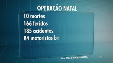 Polícia Rodoviária divulga números de acidentes do feriado de Natal - Acidentes mais graves foram na nossa região