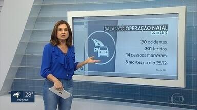 Rodovias federais têm 14 mortes no feriado de Natal em Minas Gerais - Duzentas e uma pessoas ficaram feridas