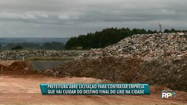 Prefeitura de Ponta Grossa abre licitação para contração de empresa para destinar o lixo - A prefeitura deve gastar o dobro mensalmente.