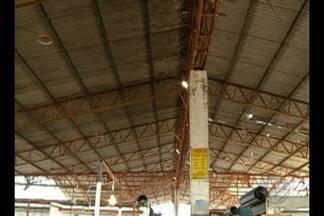 Feirantes e consumidores reclamam do abandono do Complexo do Jurunas, em Belém - Um dos maiores problemas é a estrutura do telhado, que corre o risco de desabar.