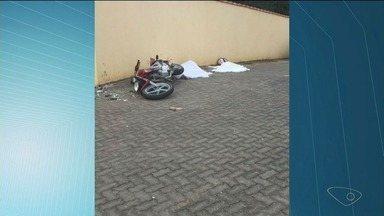 Casal que estava em moto morre após veículo bater em muro, no Sul do ES - Acidente ocorreu próximo ao trevo de Iúna.