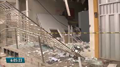 Criminosos explodem dois bancos em cidades da PB e atacam prédio da PM - Em Lagoa Seca, bandidos explodiram três caixas eletrônicos; em Pilar banco e PM foram atacados.