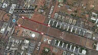 Festa na Esplanada terá mudança no trânsito - A partir das duas horas da tarde de domingo (31), vai ter um bloqueio na avenida S1. Da alça da rodoviária do Plano Piloto até o museu da república.