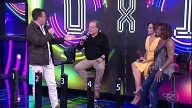 Ana Paula Araújo e Glória Maria arriscam e Jesuton vai ao palco - Rodrigo Bocardi e Chico Pinheiro não acertam e dupla faz mais um ponto