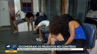 Suspeitos invadem casa e fazem família refém na Região Leste de Belo Horizonte - Segundo a PM, eles chegaram a fugir levando material roubado, mas foram detidos.