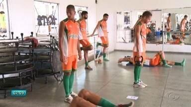 CSE aposta no atacante Diego Clementino para reforçar time - Jogadores treinam pesado para o Campeonato Alagoano de 2018.