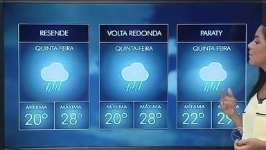 Tempo continua instável e com chuva volumosa nesta quinta no Sul do Rio - Segundo meteorologia, chuva pode ser constante e volumosa na região.