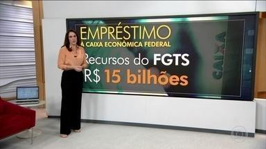 Temer libera R$ 15 bilhões do FGTS para a Caixa Econômica Federal - Argumento do governo é de que o empréstimo é necessário para capitalizar a Caixa e manter os financiamentos previstos para este ano. Miriam Leitão comenta.