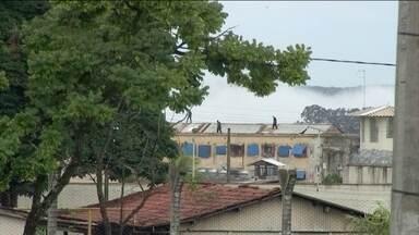 Presos fazem nova rebelião no complexo prisional de Aparecida de Goiânia - É a terceira rebelião em cinco dias. Agora, o motim foi dos detentos que cumprem pena em regime fechado.