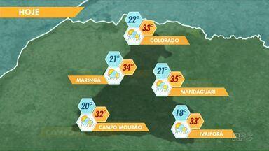 Sábado será com pancadas de chuva em Maringá - A previsão é de muito calor também em toda a região.