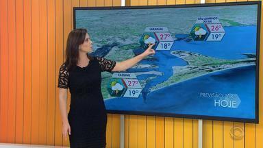 Tempo: há previsão de chuva em todo o litoral do RS neste sábado (6) - Assista ao vídeo.