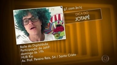 Dicas dos Telespectadores - Sambinha do Mirante - no Vidigal; primeiro ensaio do bloco Spanta Nené, na Hípica; ensaio técnico do Salgueiro, na Rua Conde de Bonfim e Baile Digtaldubs no Hub Rio, no Santo Cristo.