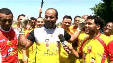 """Jogo festivo reúne """"Tecão Maravilha"""" e JV Lideral - Durante a partida o repórter Jeremias Alves participou da festa e contou os detalhes do encontro festivo."""