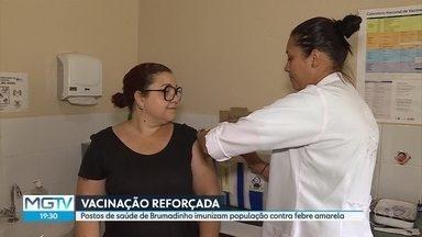 Prefeitura de Brumadinho intensifica vacinação contra febre amarela após casos confirmados - Um homem de 51 anos morreu e outro está internado com a doença. O Parque do Rola Moça está fechado.