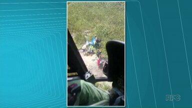 Montanhista é resgatado do Pico Paraná, na Serra do Mar - Ele quebrou a clavícula durante a trilha e precisou ser resgatado pelo Batalhão de Operações Aéreas.