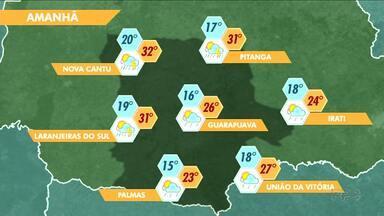 Volta a chover na região de Guarapuava - E a próxima semana começa com chuva também.