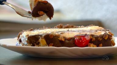 Receita do Campo: aprenda a fazer torta de sorvete com ganache de chocolate - Assista ao vídeo.