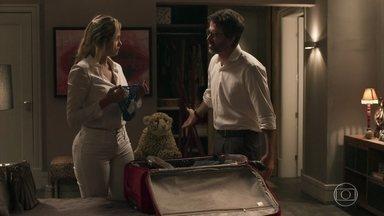 Samuel faz proposta para Suzy ficar calada - O psiquiatra aceita se divorciar da enfermeira e promete uma gorda pensão para que ela mantenha seu segredo. Susy aceita