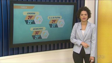 Semana começa com mais chuva na região de Londrina - O tempo instável permanece até quinta-feira segundo a previsão.