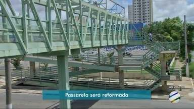Passarela na Avenida Fernando Corrêa será interditada para obras - Passarela na Avenida Fernando Corrêa será interditada para obras