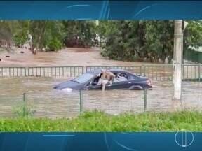 Chuva de granizo derruba árvores e alaga ruas em Montes Claros - Segundo as primeiras informações do Corpo de Bombeiros, foram registradas 11 ocorrências de inundações.