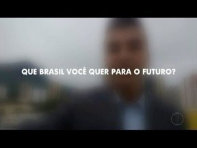 Que Brasil você quer para o futuro? Saiba como enviar o seu vídeo - A Globo quer ouvir o desejo dos brasileiros de todas as cidades do país e vai exibir as mensagens nos telejornais da emissora. Para gravar e enviar o seu recado, confira o passo a passo.