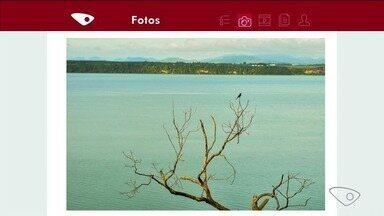VC no ESTV: Telespectadores enviam registros de paisagens no Norte do ES - Amanhecer na praia de Urussuquara foi um dos registros enviados.