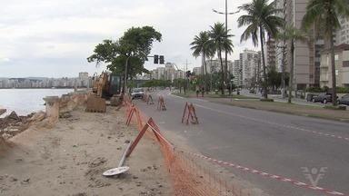 Obras contra a erosão na Ponta da Praia, em Santos, são suspensas - Ministério Público do Estado de São Paulo alega improbidade administrativa.