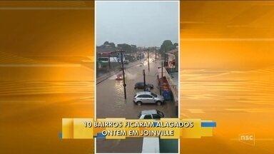 10 bairros registram pontos de alagamentos em Joinville - 10 bairros registram pontos de alagamentos em Joinville
