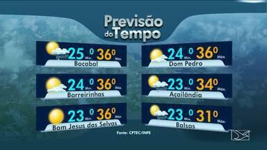 Veja as variações das temperaturas no Maranhão - Previsão do tempo para esta quarta-feira (17) será de muita instabilidade em todo o estado.