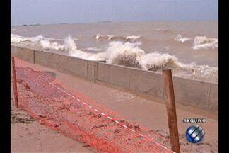 Secretário de Urbanismo esclareceu problemas no muro de arrimo na praia do Maraú - A situação foi mostrada pela Tv Liberal no início do mês.