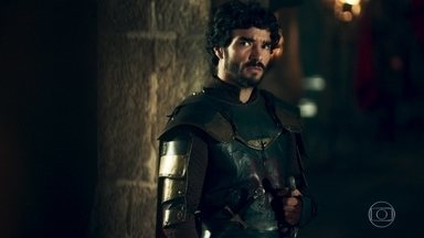 Cássio leva uma questão para Rodolfo resolver - Mas o príncipe não consegue mediar o conflito entre duas aldeãs
