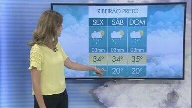 Sensação térmica chega a 40ºC nesta sexta-feira (19) em Ribeirão Preto - Pancadas de chuvas não estão descartadas no fim da tarde.