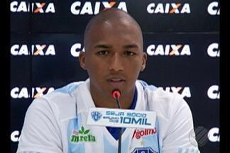 Danilo Pires é apresentado oficialmente pelo Paysandu no Estádio Curuzu - Jogador de 25 anos vem do CRB e já está treinando regulamente com o restante da equipe