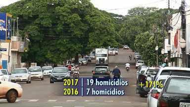 Paiçandu registra aumento de 171% no número de homicídios em 2017 - 19 pessoas foram assassinadas no ano passado na cidade