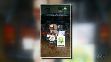 Carro com contrabando é apreendido em Foz - Em outra ação, um paraguaio foi preso por tráfico internacional de armas e munição.
