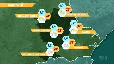 A previsão é de chuva pra este fim de semana na região de Ponta Grossa - O tempo segue instável e há risco de pancadas de chuva, principalmente para o período da tarde.