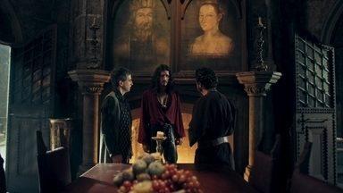 Rodolfo se desespera com a notícia de Afonso - O príncipe diz que não quer ser rei de jeito nenhum. Petrônio e Orlando o acalmam dizendo que ele é capaz de governar Montemor