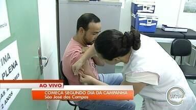 Campanha de vacinação contra febre amarela entra no segundo dia - Ação acontece em 38 cidades da região.