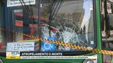 Polícia investiga atropelamento na região da Paulista - Estudante de 25 anos morreu no acidente. Namorado que também foi atropelado disse que não se lembra de nada.